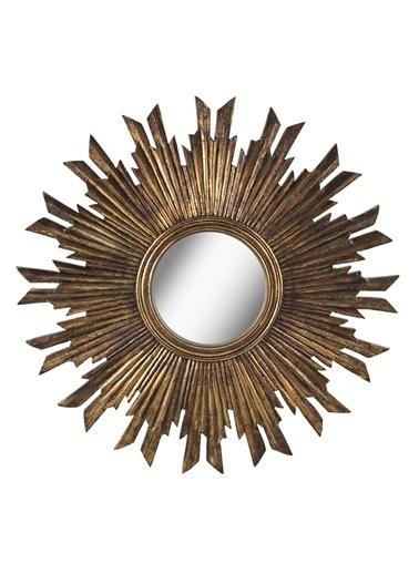 Warm Design Antik Altın Ayna Altın